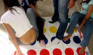 teens playing game