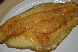 fried fish fillet on a plate