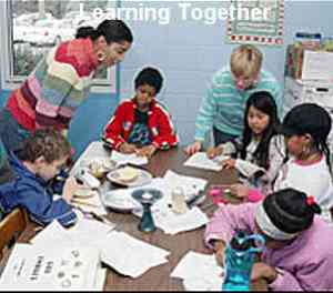 Learning together - a class activity with a racial diversity in teachers and children